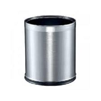 339824 stainless steel round waste bin (double layer)