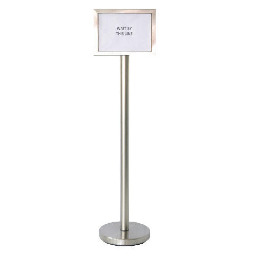 340217 stainless steel sign board stand?1490210699