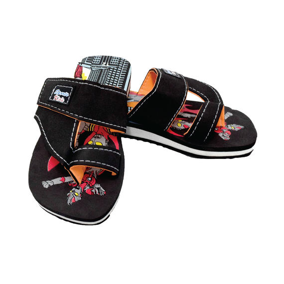 AEROKID - TODDLER SANDALS  (KS S284-BK) BLACK
