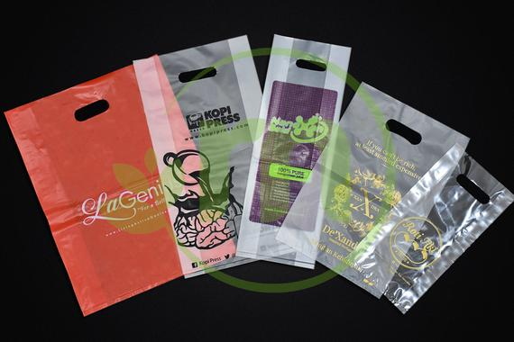 Printed Plastic Bag - Die Cut Handle
