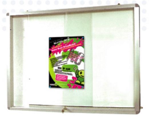 Aluminium Frame Cork Notice Board Sliding Glass Cabinet, Aluminium ...