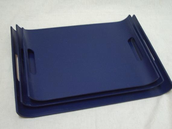 1191 U Shape Handy Tray (PU Blue)