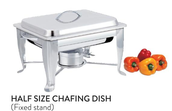 Half Size Chafing Dish (Fixed Stand)
