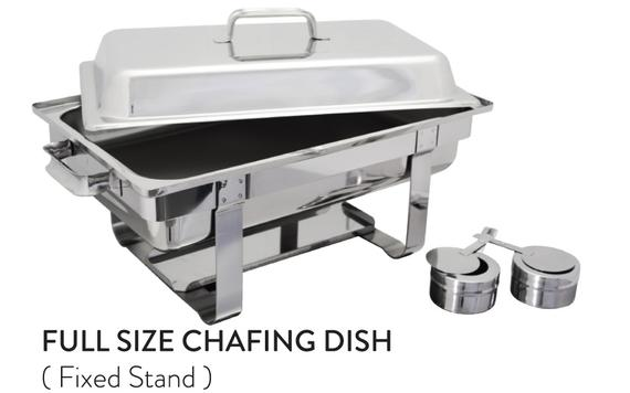 Full Size Chafing Dish (Fixed Stand)