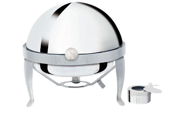 32cm Round Rolled Top Chafing Dish