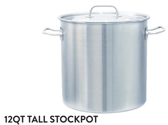 12QT Tall Stockpot (Wire Handle)