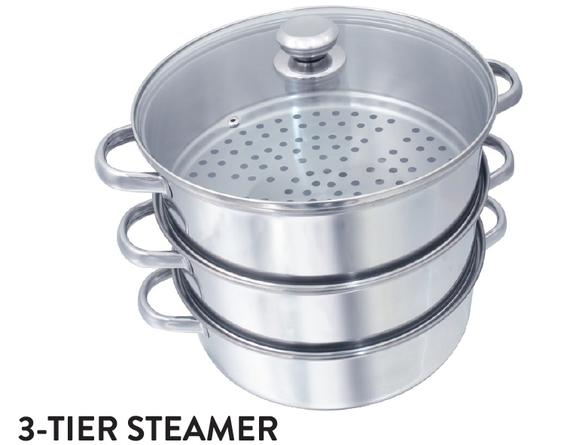 3-Tier Steamer (Hollow Handles)