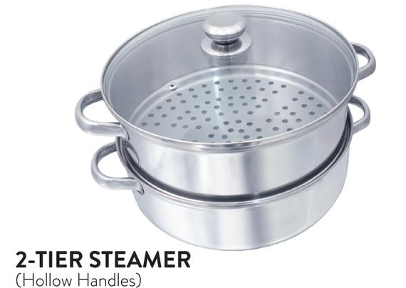 2-Tier Steamer (Hallow Handles)