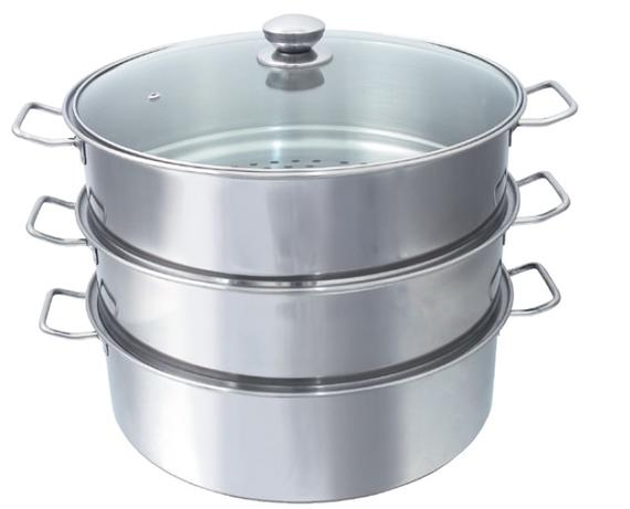 3-Tier Steamer Pot (Wire Handle)