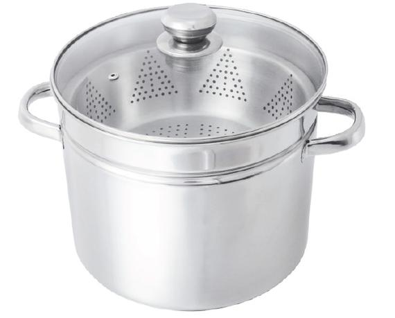 12 QT Stockpot with Steamer Set (Hallow Handles)