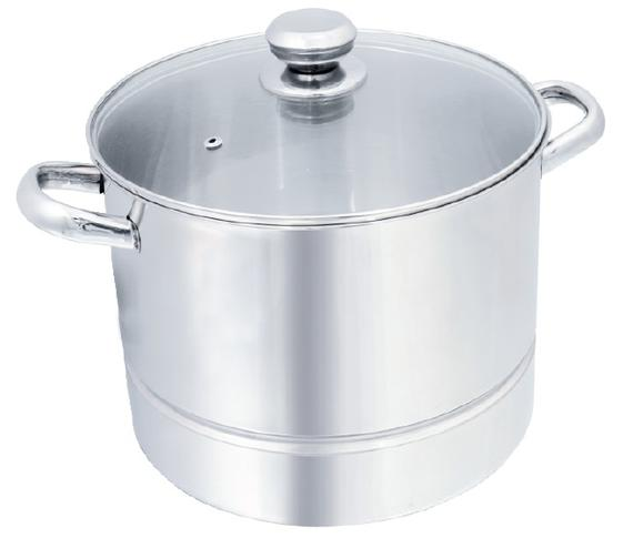 Stockpot with Steamer Plate (Hollow Handle)