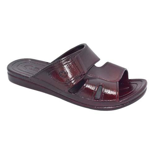 Men PVC Slipper (P 628-BN) Brown