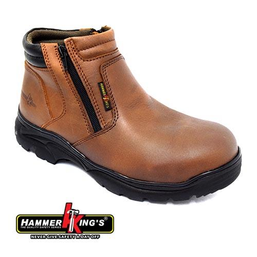 HAMMER KING - SAFETY SHOE (HK 13013-BN) Brown