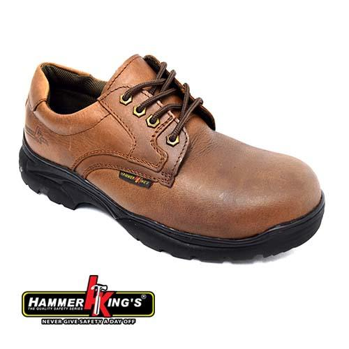 HAMMER KING - SAFETY SHOE (HK 13012-BN) Brown