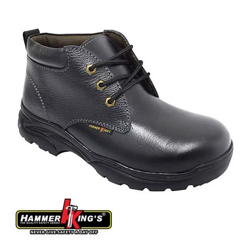 HAMMER KING - SAFETY SHOE (HK 13010-BK) Black