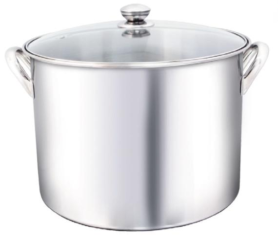 Stockpot (Rivet Handle with Glass Lid)