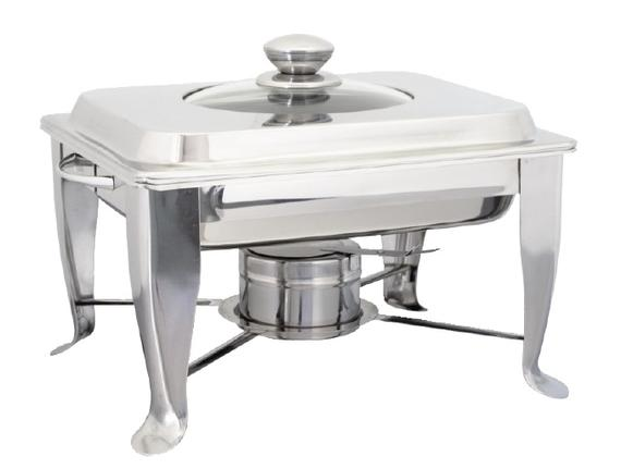 Half Size Chafing Dish (with Window Glass Lid - Fixed stand)