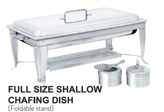 Full Size Shallow Chafing Dish (Foldable Stand)