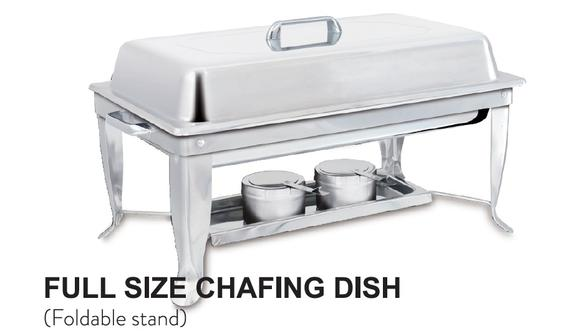 Full Size Chafing Dish (Foldable Stand)