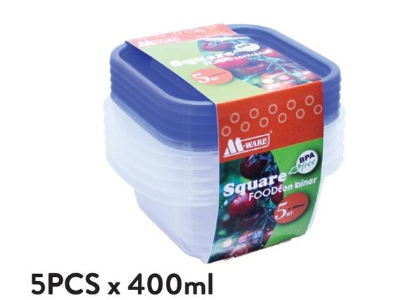Fresh Air Tight Food Container 5pcs x 400ml