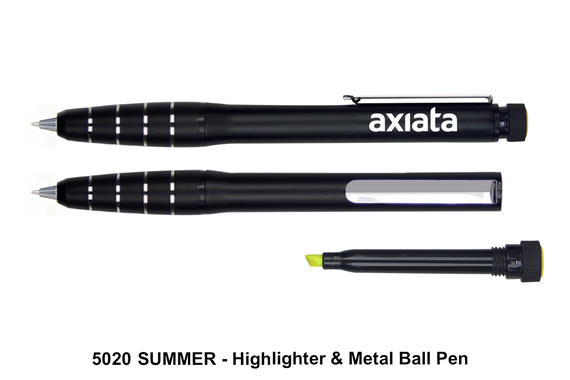 5020 SUMMER - Highlighter & Metal Ball Pen