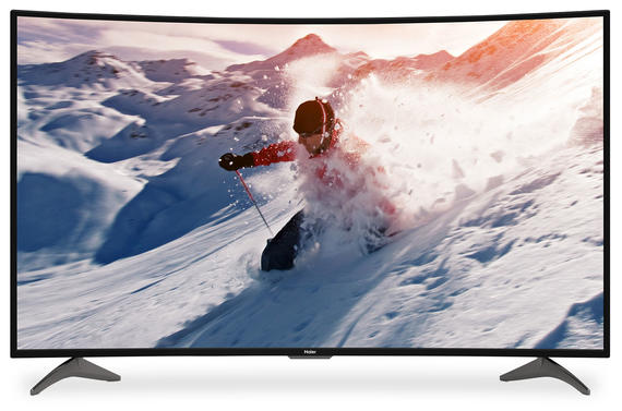 HAIER LED TV 4K CURVED  55'