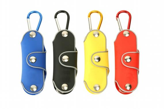 Rubberised Key Holder With Carabiner Hook (KS-102)