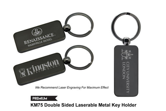 KM75 - Double Sided Laserable Metal Key Holder