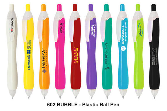 602 BUBBLE - Plastic Ball Pen