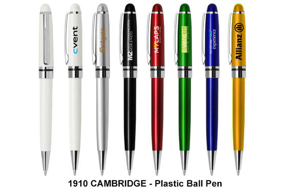 CAMBRIDGE - Plastic Ball Pen (Black Ink)