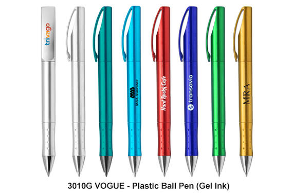 VOGUE - Plastic Ball Pen (Gel Ink)