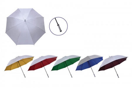 "30"" Manual Silver Coated Golf Umbrella"