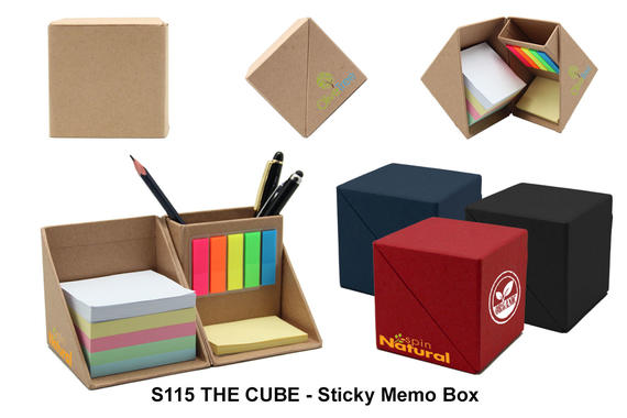 S115  THE CUBE - Sticky Memo Box