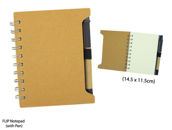 Flip Notepad(with pen)