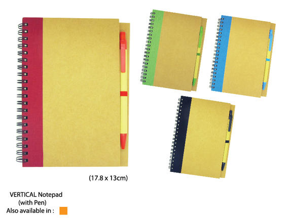 Vertical Notepad(with pen)