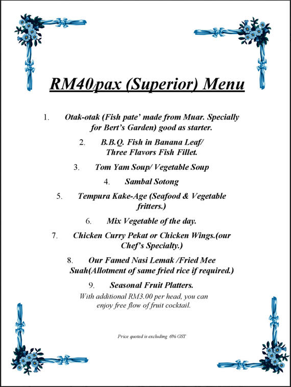 Party Menu - (Superior) Menu