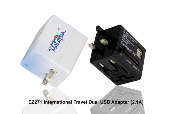 EZ271 International Travel Dual USB Adapter (2.1A)