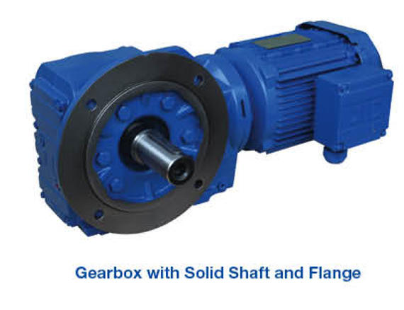 Gearbox - Solid Shaft and Flange