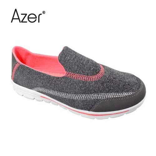 Azer Sport Shoe (S 7117-GY/M) Grey/Melon