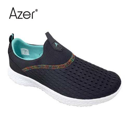 Azer Sport Shoe (S 7120-BK/G) Black/Green