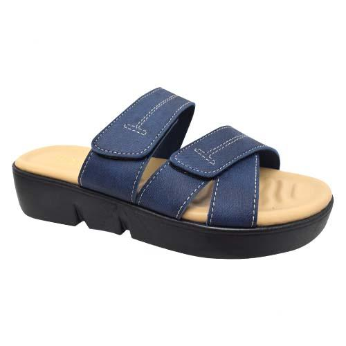 AZER - LADIES FLAT SANDALS (19-1163 NY) NAVY