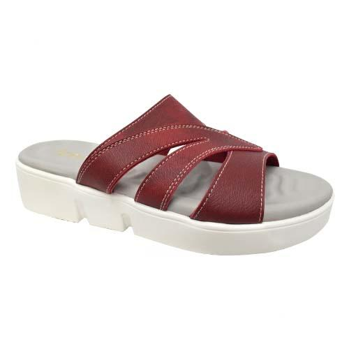 AZER - LADIES FLAT SANDALS (19-1164 M) Maroon