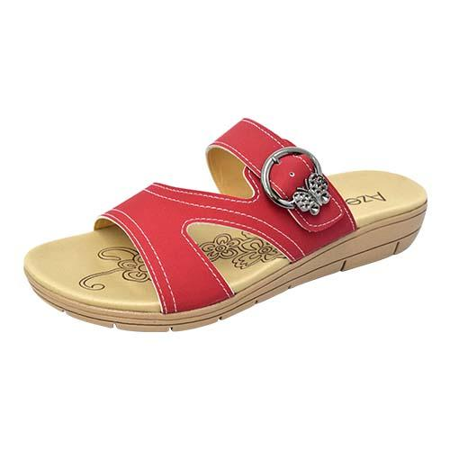 AZER - LADIES FLAT SANDALS (76-14179 R) RED