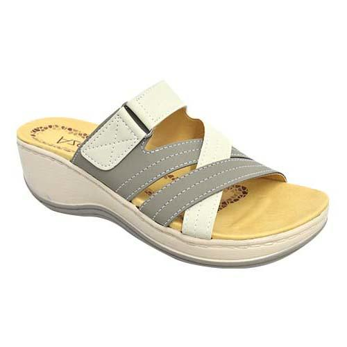 AZER - LADY COMFORT WALK SHOE (76-13179 GY) GREY