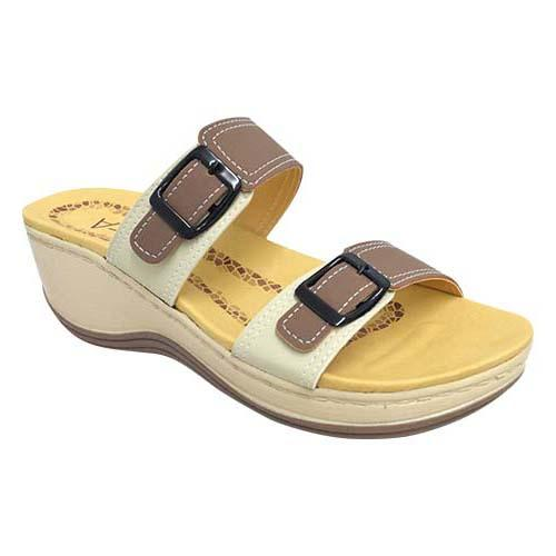 AZER - LADY COMFORT WALK SHOE (76-13183 AL) ALMOND