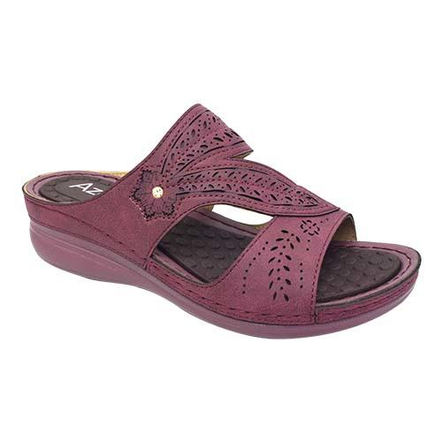 AZER - VINTAGE STYLE LADIES SANDAL (90-733 R) RED