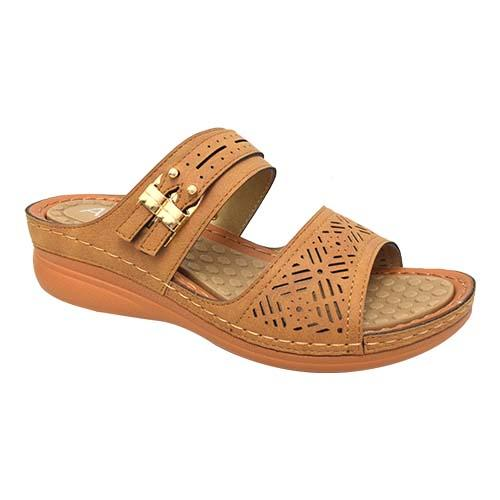 AZER - VINTAGE STYLE LADIES SANDAL (90-735 BN) BROWN