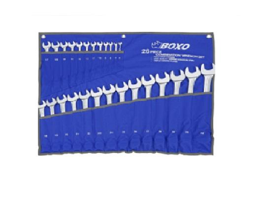 26pcs Standard Combination Wrench Set - Pouch Bag