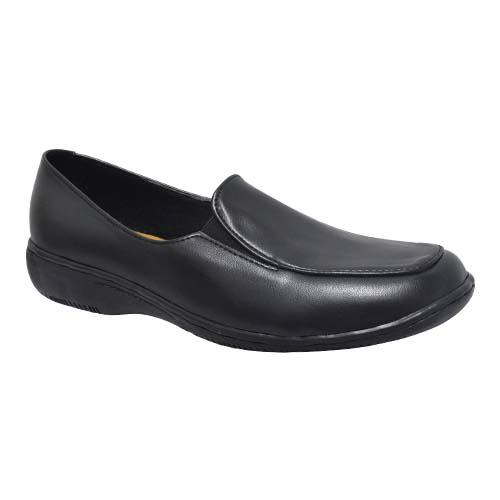 AZER - LADIES COURT SHOES (63-553 BK) BLACK