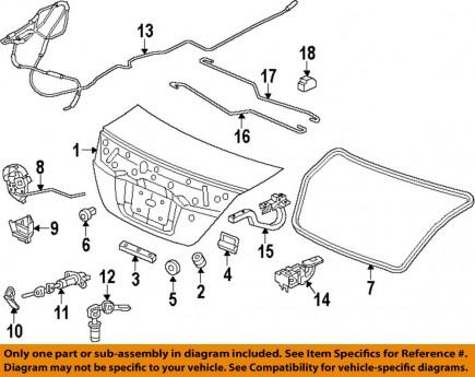 HONCP000202 Honda Civic Boot Lock Cylinder 74861-SNB-003